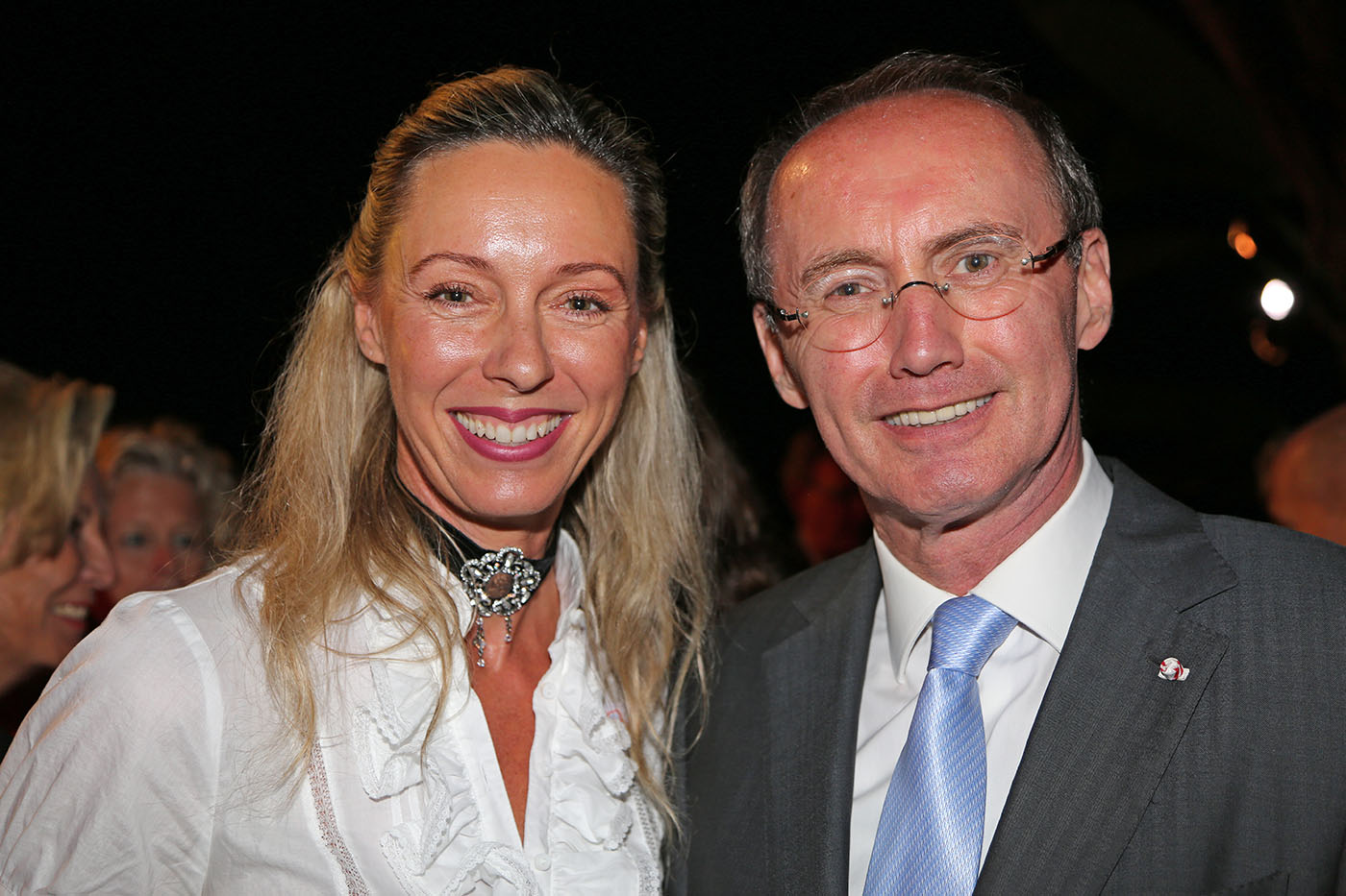 Ritziger with MEP Othmar Karas at the Special Olympics in LA, photo: Ulrike Ritzinger private archive