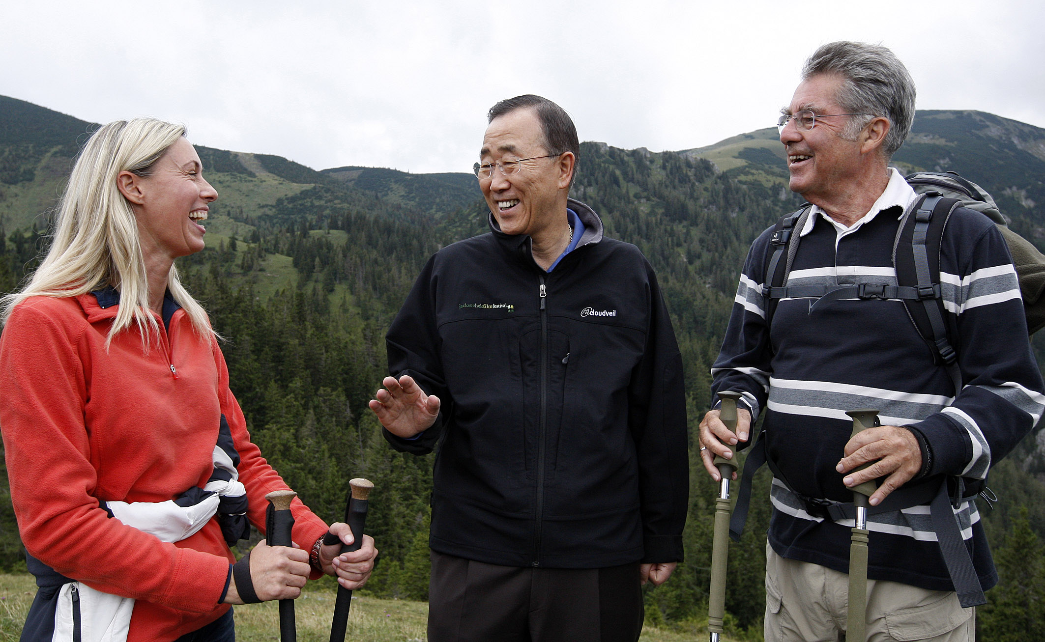 Ritzinger with UN-SG Ban Ki-moon and Austrian President Heinz Fischer. photo: Ritzinger private archive