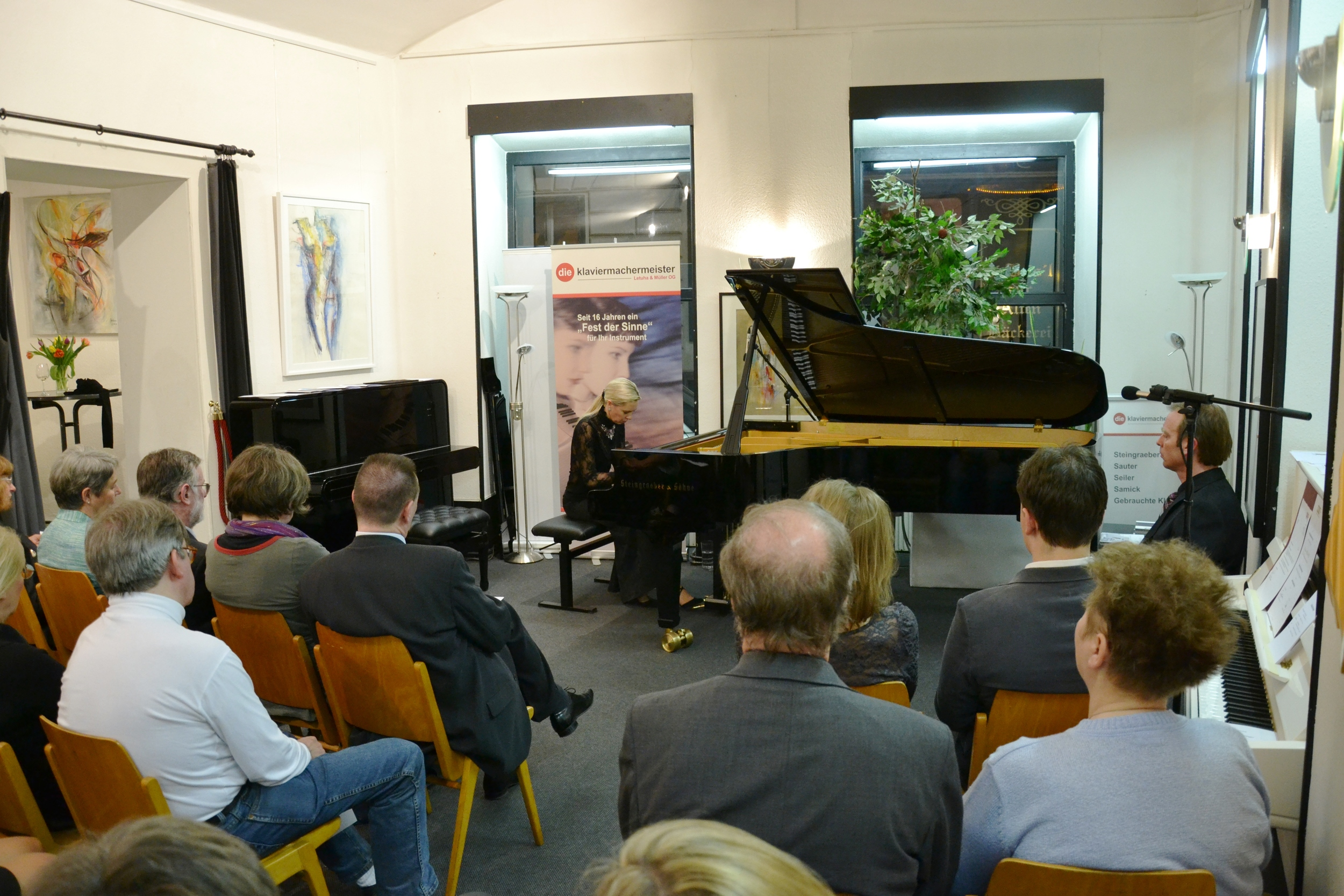 Ritzinger playing a piano concert in 2012, Photo: Ritzinger private archive
