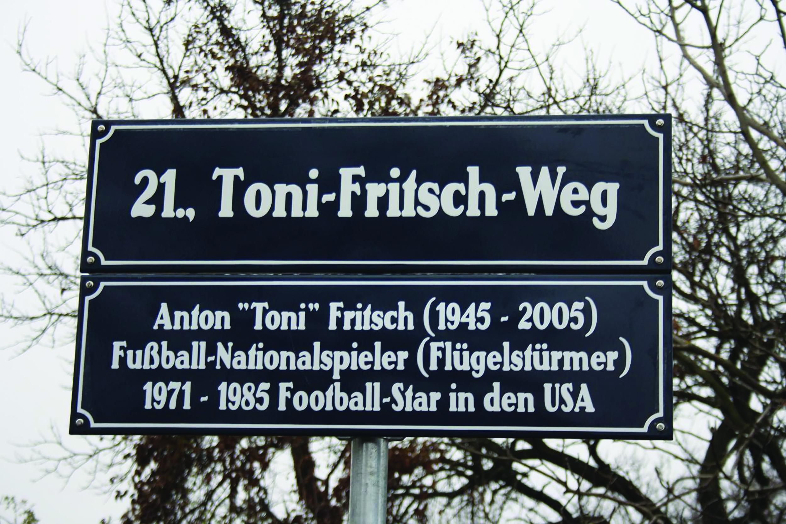 The Toni Fritsch Weg in Vienna, Photo: Football Austria