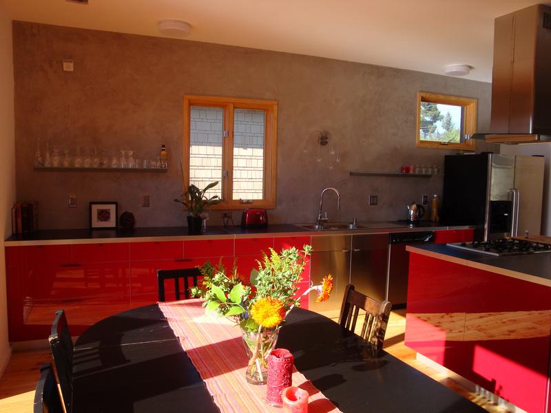 Nabih Tahan, Interior, passive house in Berkeley, California. Nabih Tahan