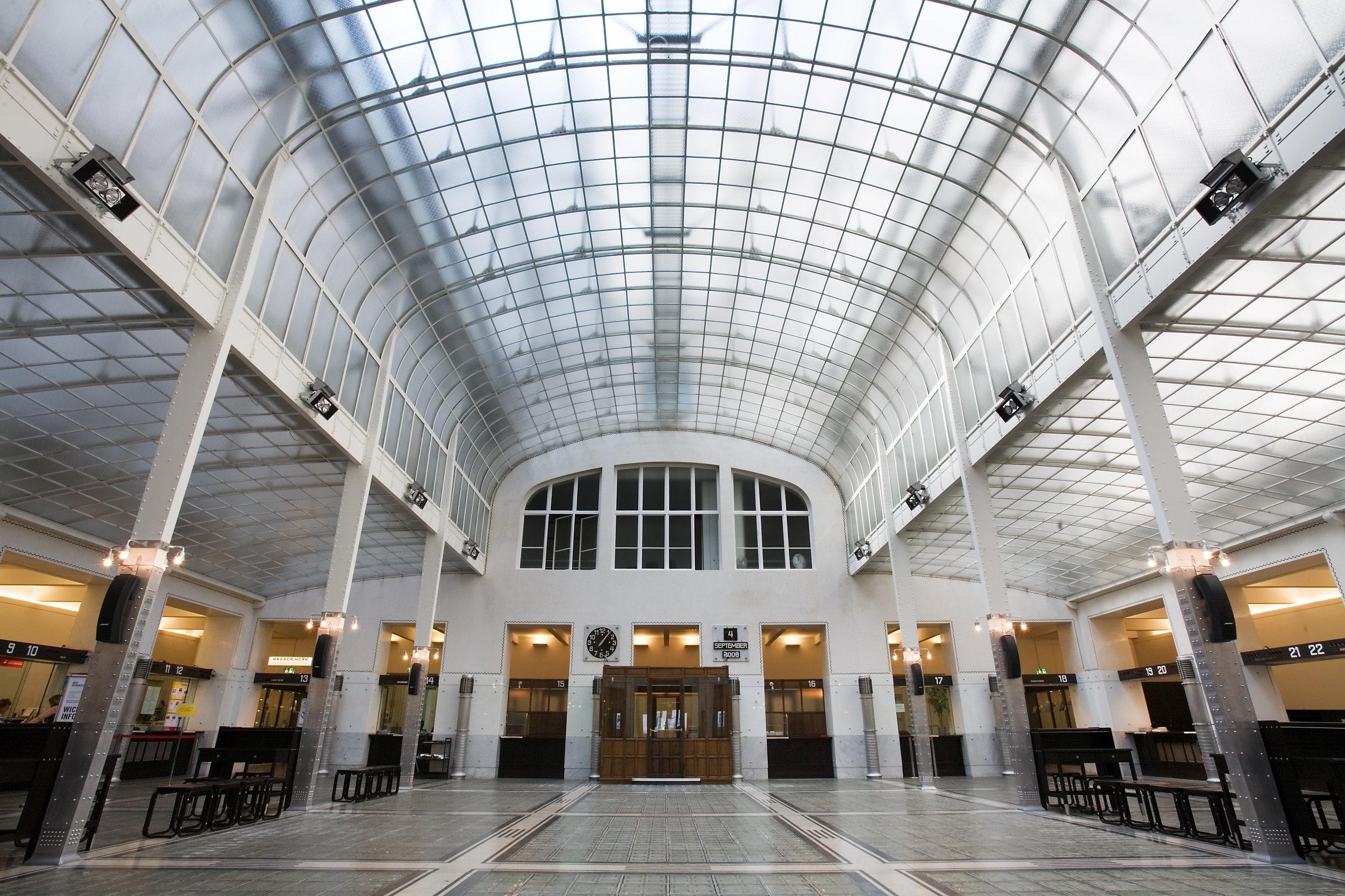 Otto Wagner, Postal Savings Bank, Vienna. Photo: Wikimedia/Jorge Royan
