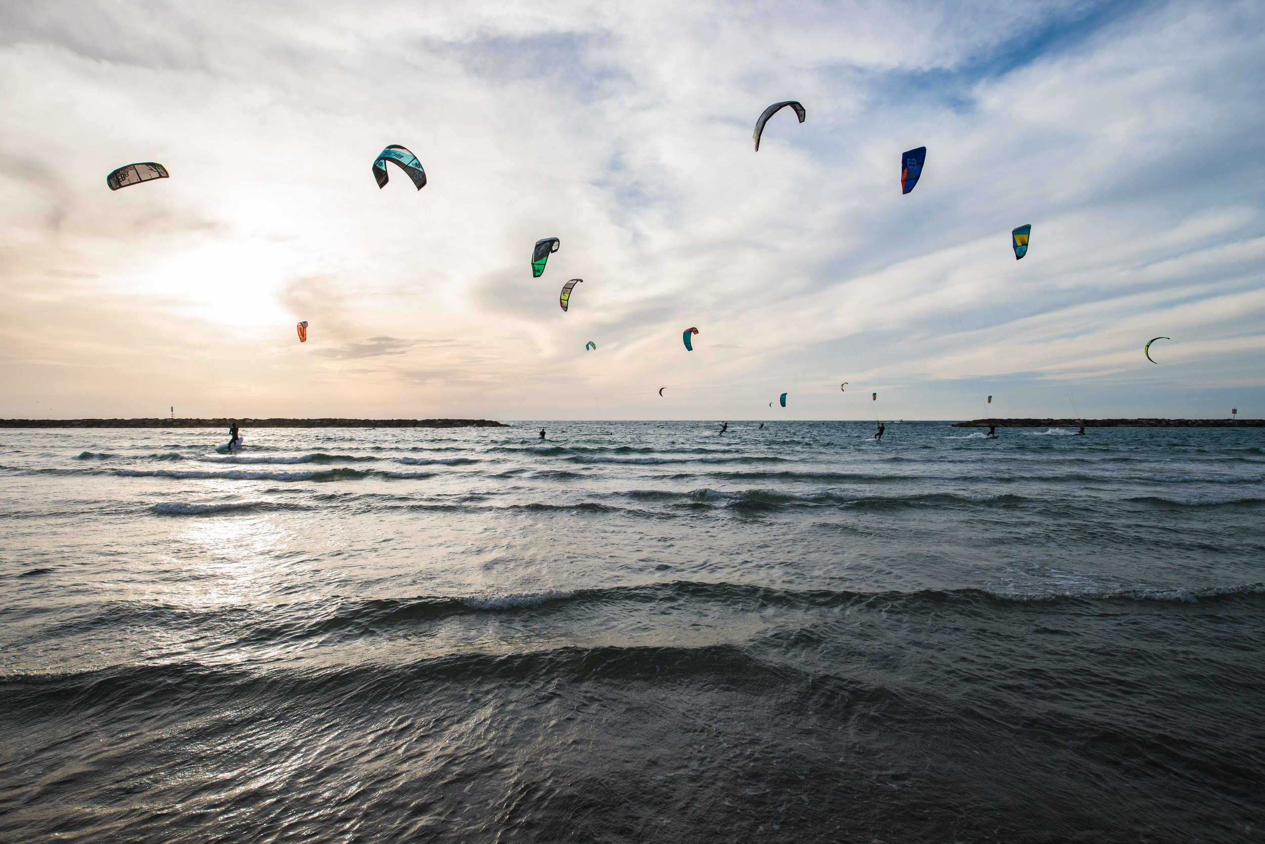 Kite Surfers | Tel Aviv, Israel