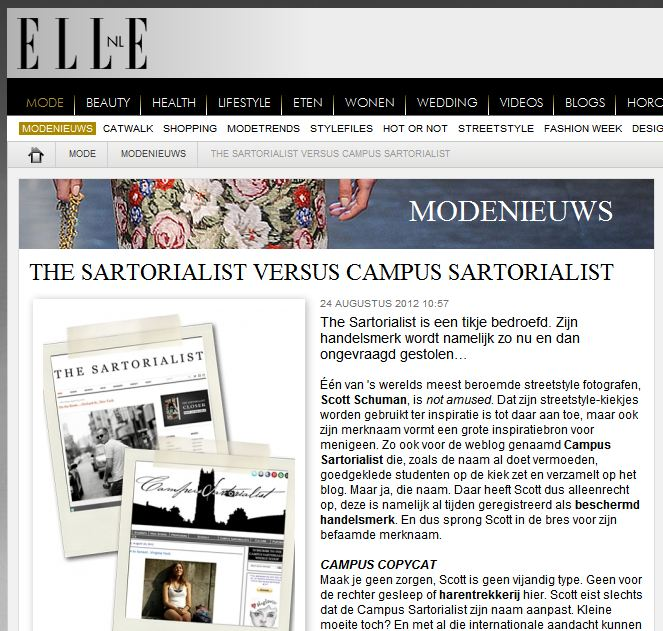 Elle    Netherlands   -  The Sartorialist vs. Campus Sartorialist