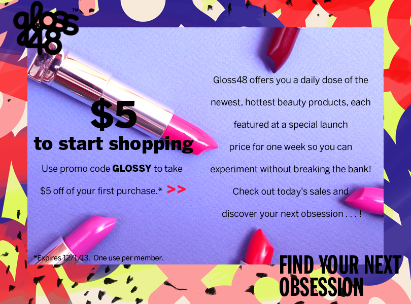 $5 coupon to Gloss48 beauty products giveaway lip gloss balm lipstick podwer
