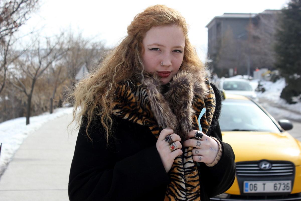 Yagmur - Bilkent University, Turkey - Winter Faux Fur Collar