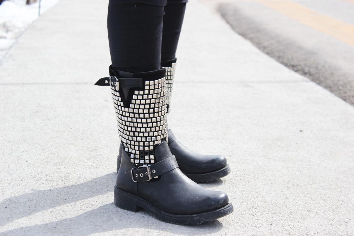 Yagmur - Bilkent University, Turkey - Studded Black Leather Boots