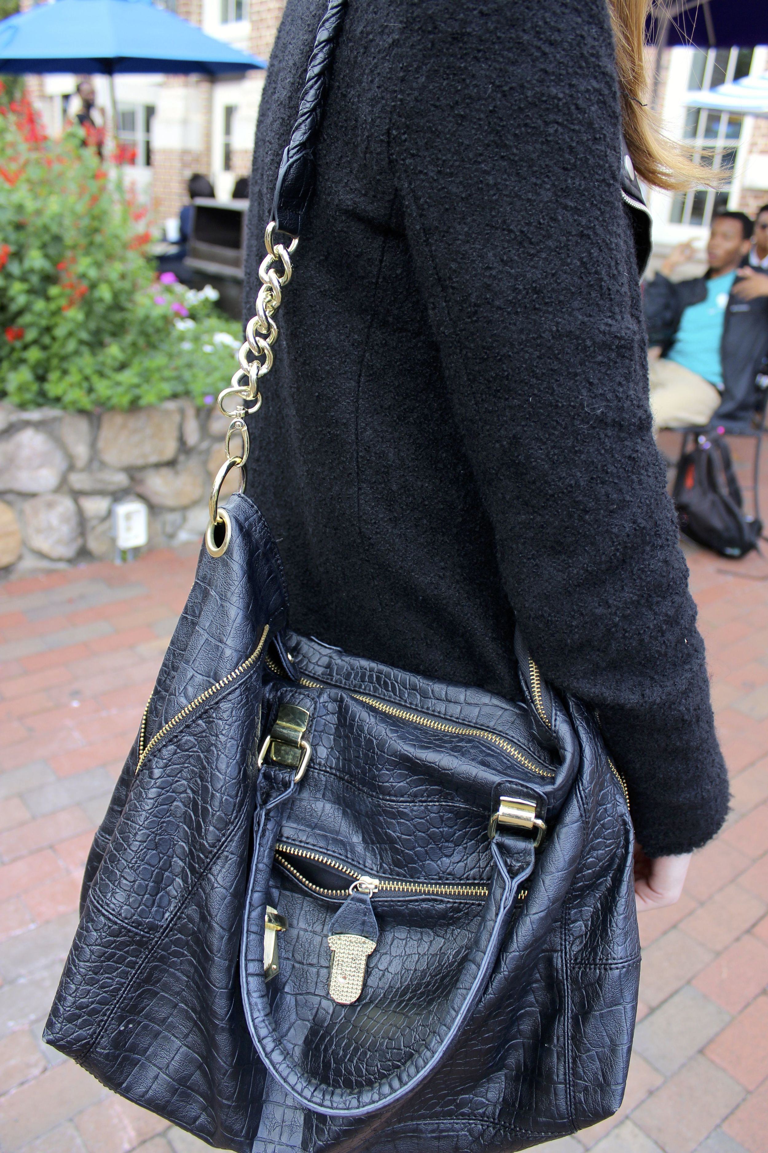 Leather hand bag at University of North Carolina #UNC