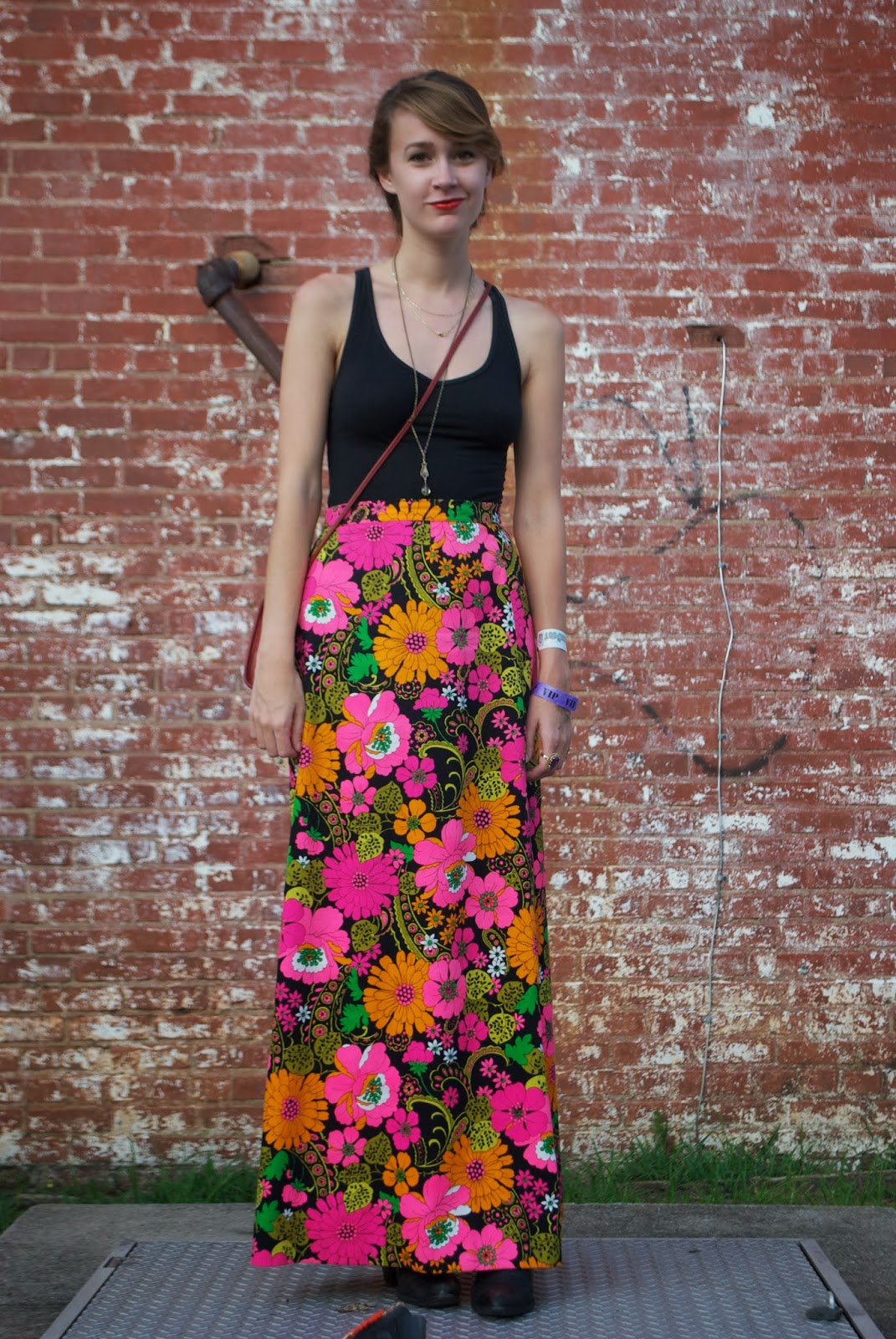 Floral is all the rage this spring and this psychedelic vintage skirt is gorgeous! For an updated look that features a floral design check out Macy's  MADE Floral Print Skirt
