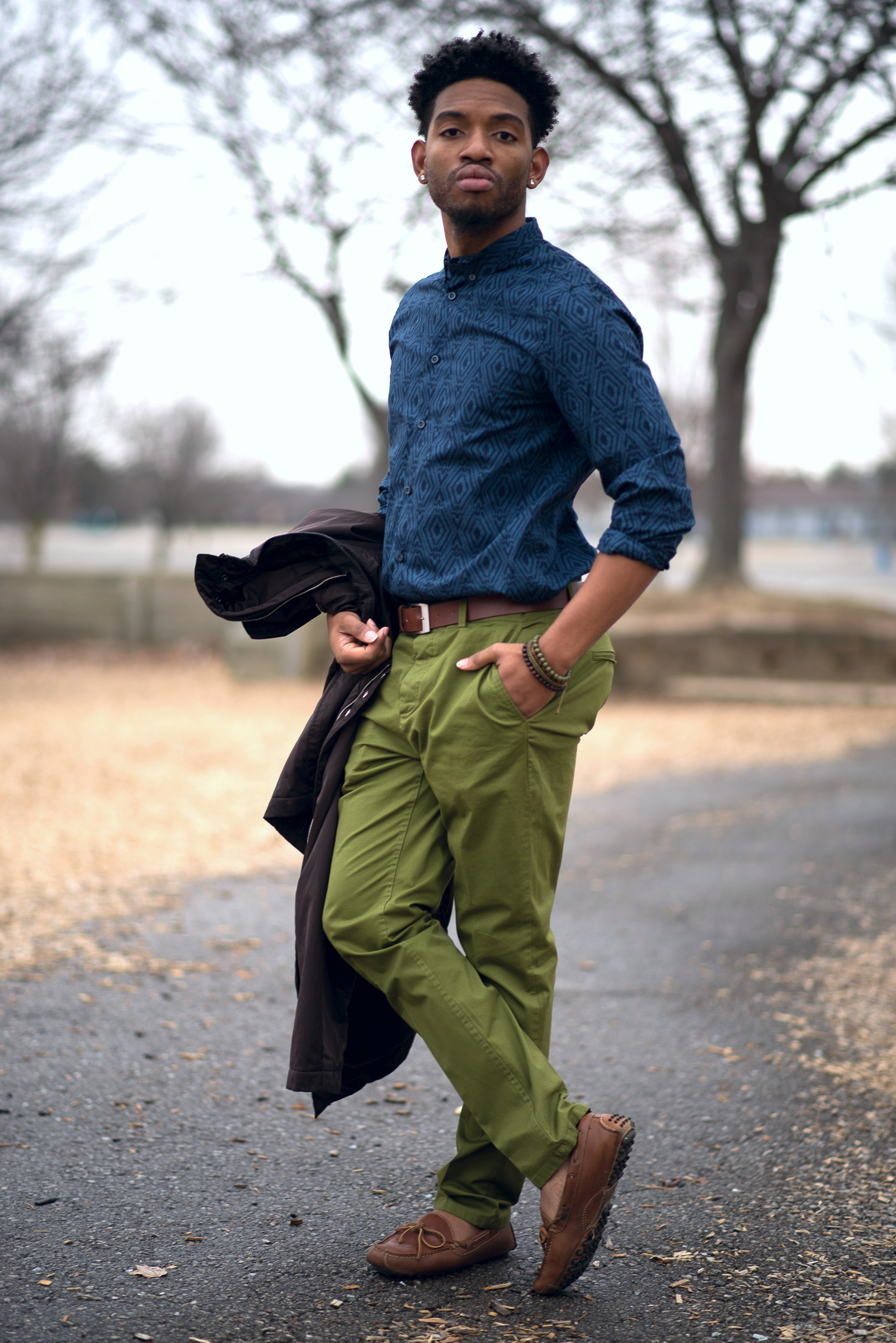 Jerrell Harwell | IUPUI  Shirt- H&M Bracelets-Aldo Loafers-Cole Haan Pants-H&M
