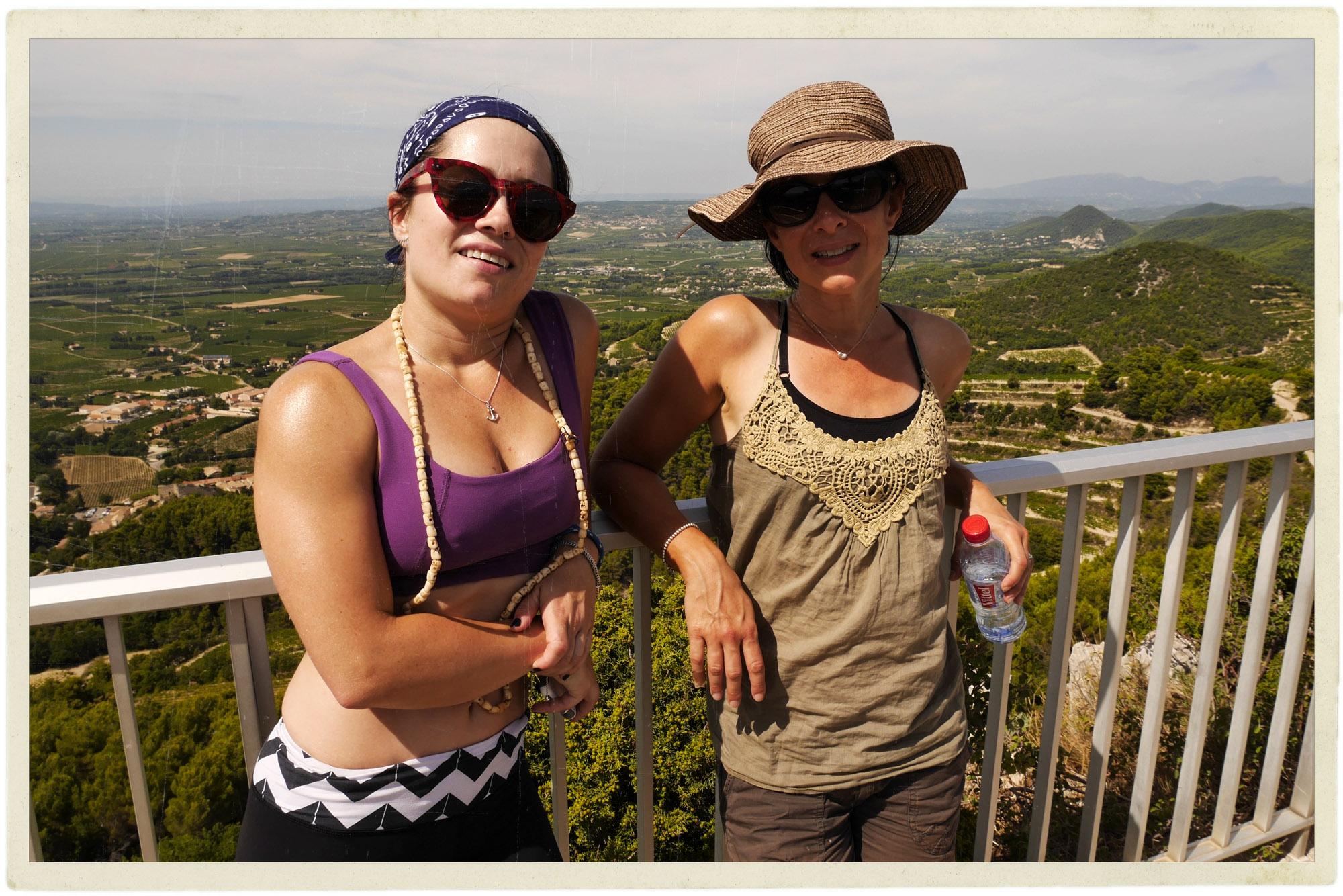 Me and Nat at the observation platform above Gigondas.
