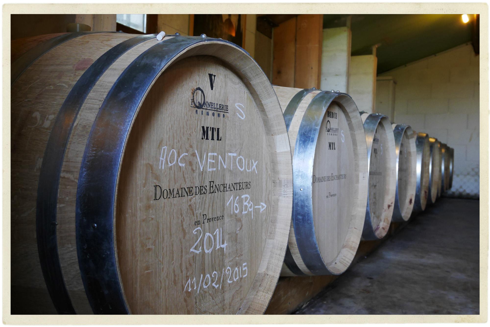 New favourite boutique winery in the Ventoux: Domaine des Enchanteurs.