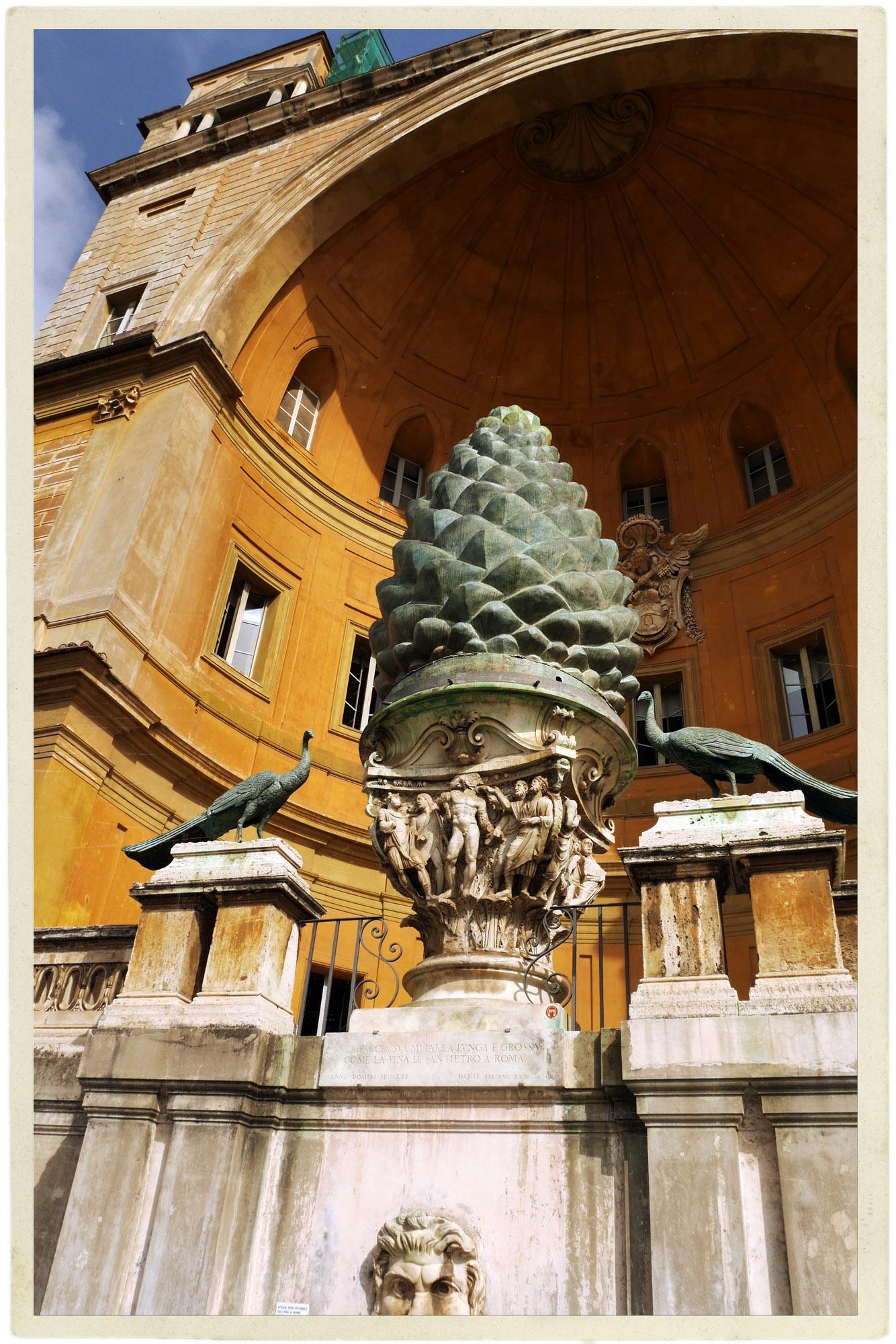 Vatican courtyard.