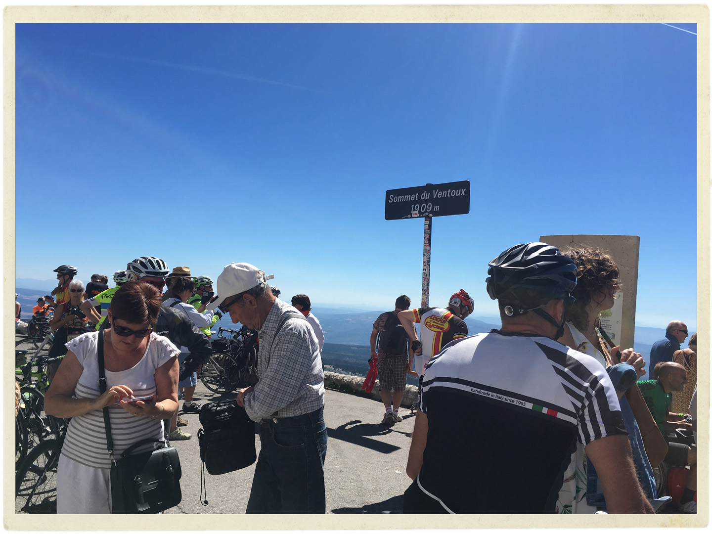 Top of Ventoux on a +33 degree day. Perfection.