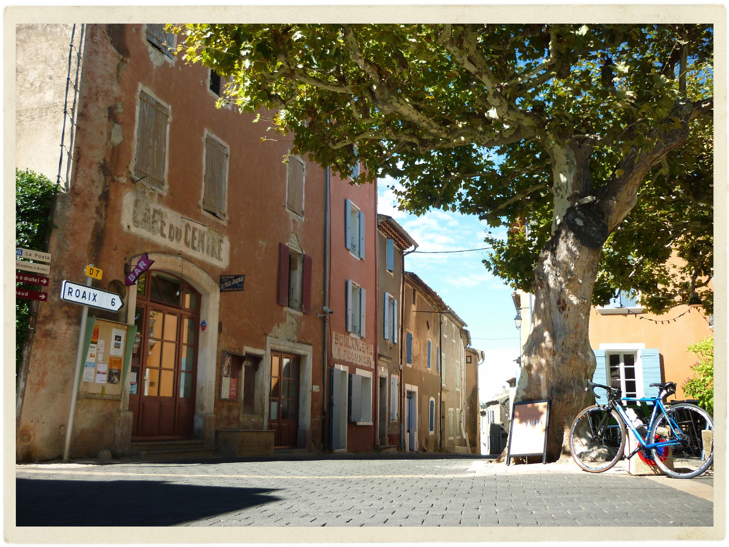 Village of Villedieu in the Drôme. Love riding through here...