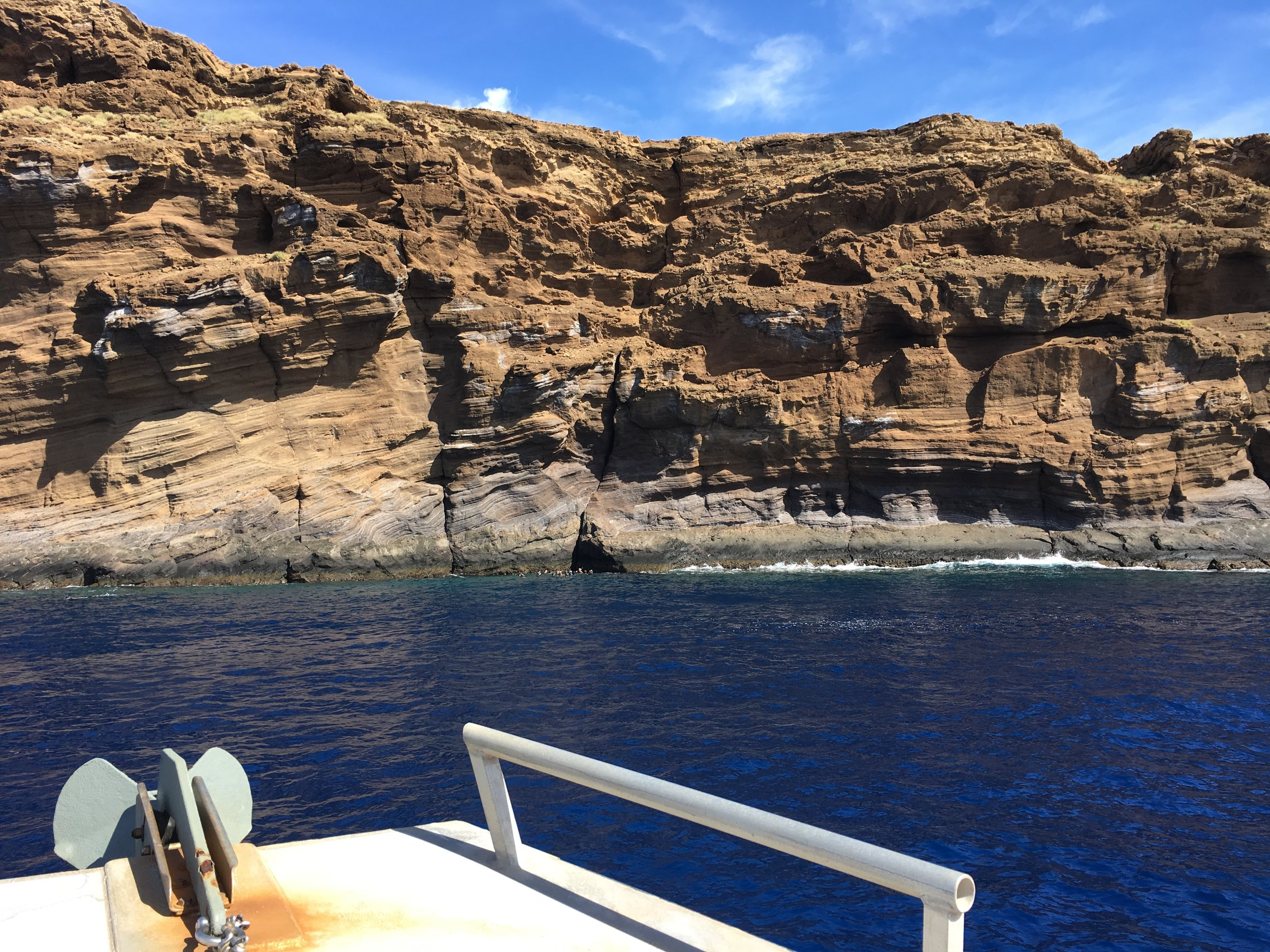 Back side of Molokini Crater. 300 feet deep for those brave enough to explore (of course Jason was out there).