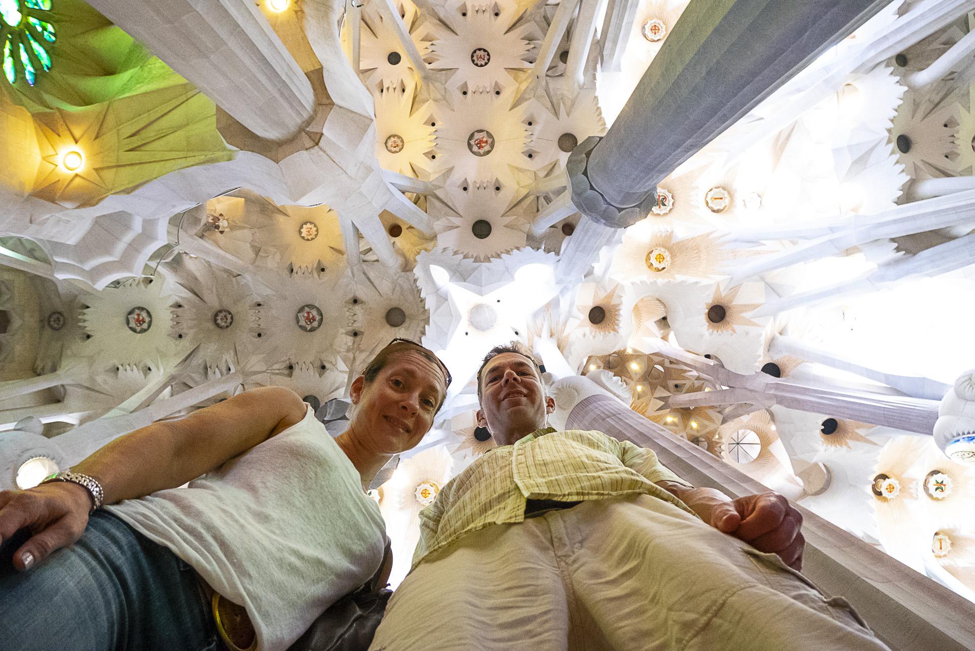 Inside la Sagrada Família, Barcelona.