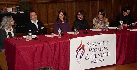 (Left to Right) Silvie Blaustein, Jacques Moritz, Elan McAllister, Ricki Lake, Abby Epstein, Aurelie Athan