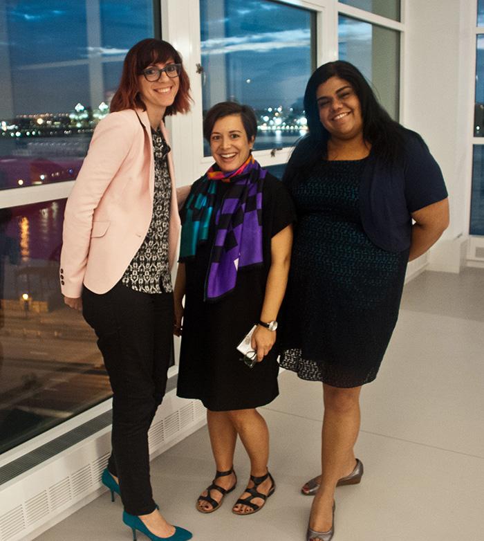 Right to left: Melanie Brewster, Aurelie Athan, Riddhi Sandil