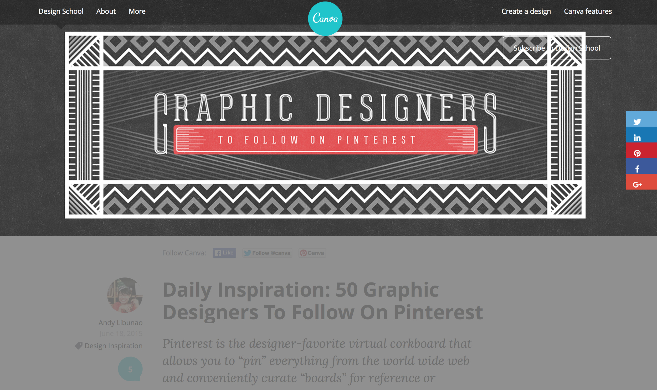 50 Graphic Designers to Follow on Pinterest
