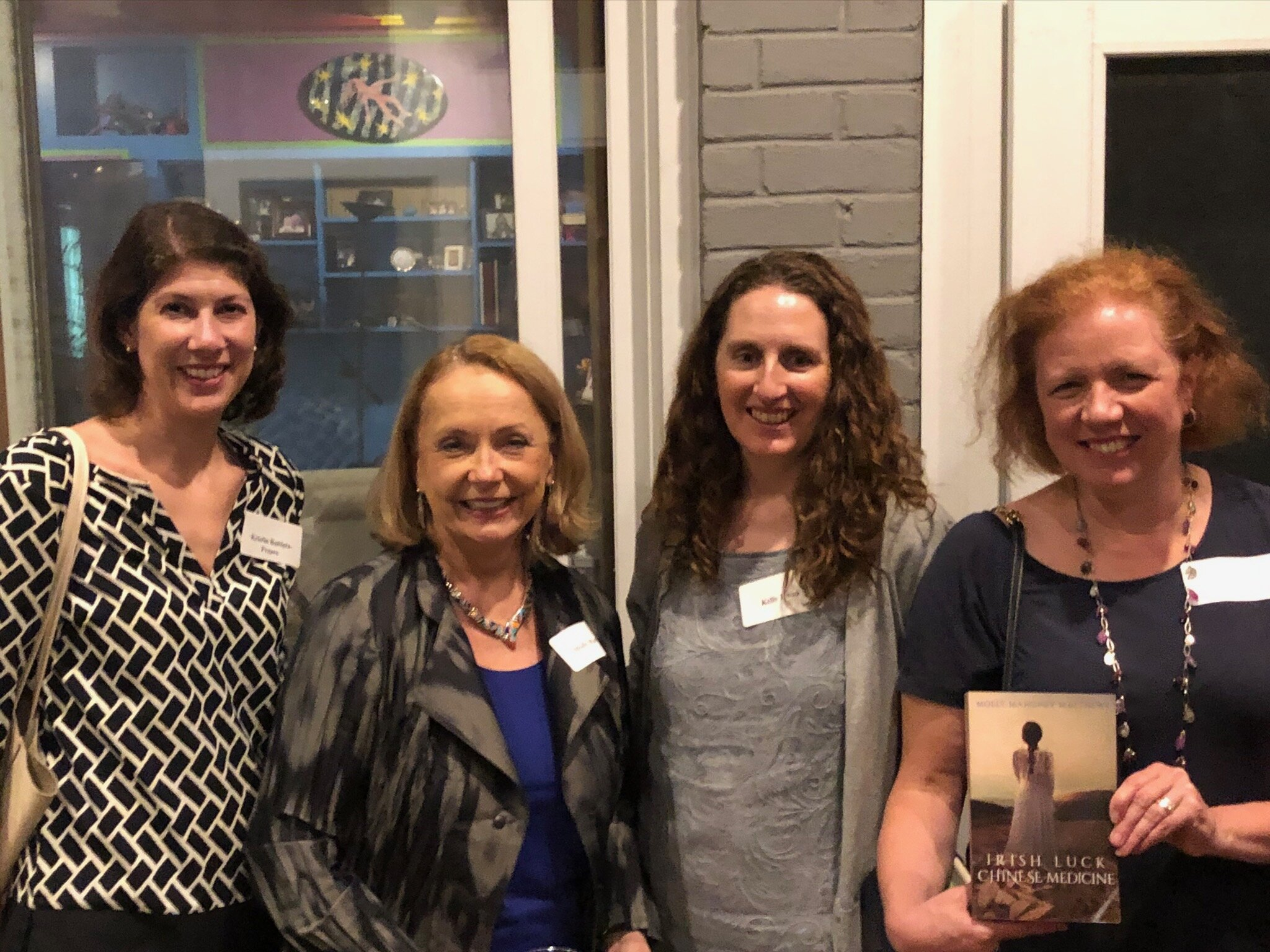Members of my writing group at a book party for friends and family hosted by Jill and Zoe Scharff.