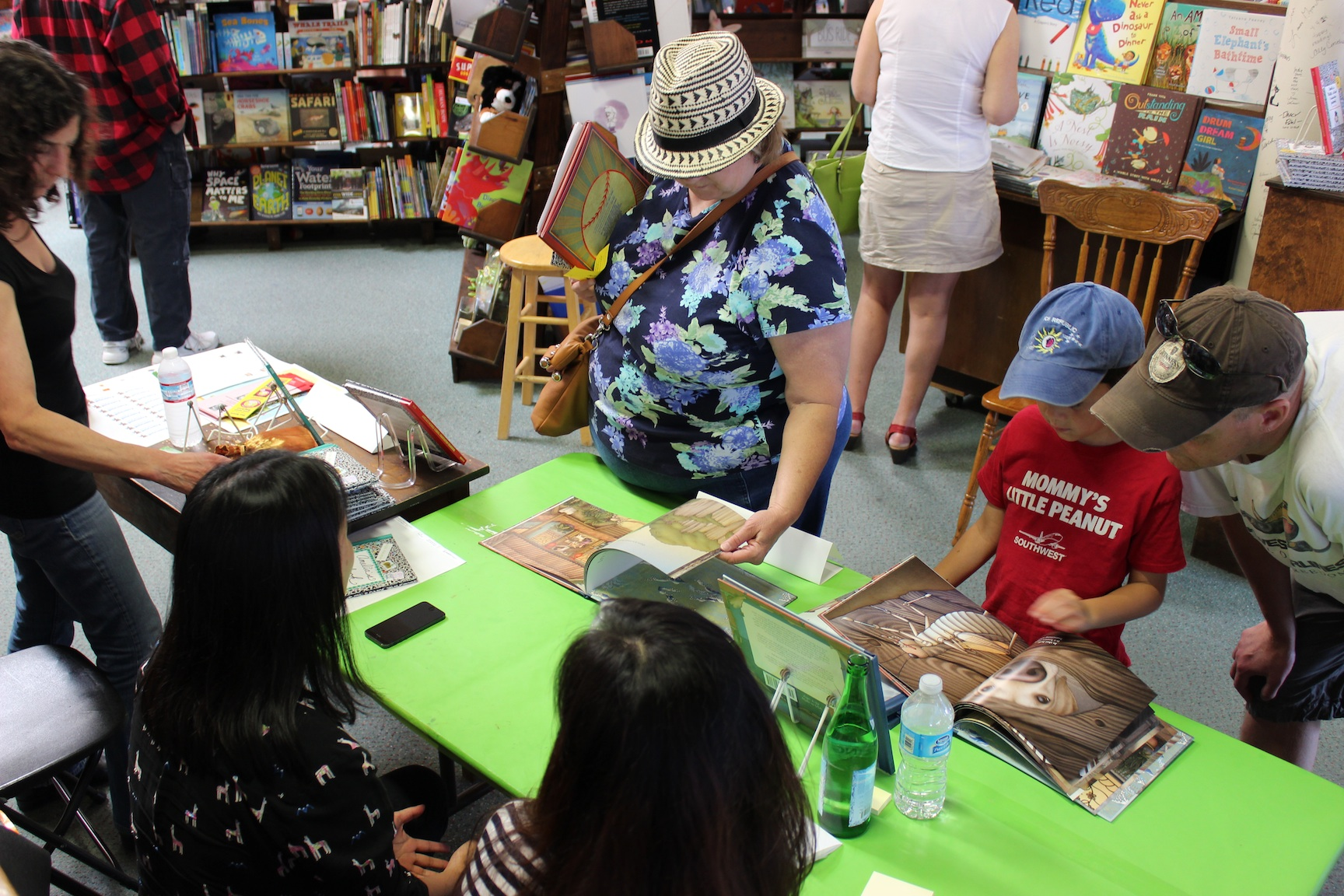 Muon and I answering questions from a curious young reader.