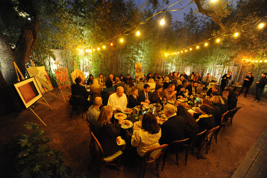 """It doesn't get any better than a plate piled high with Texas fried chicken! A magical """"Art of Leadership"""" dinner under the stars at the Hotel Saint Cecilia. Event photos credit: Tracy Ketcher."""