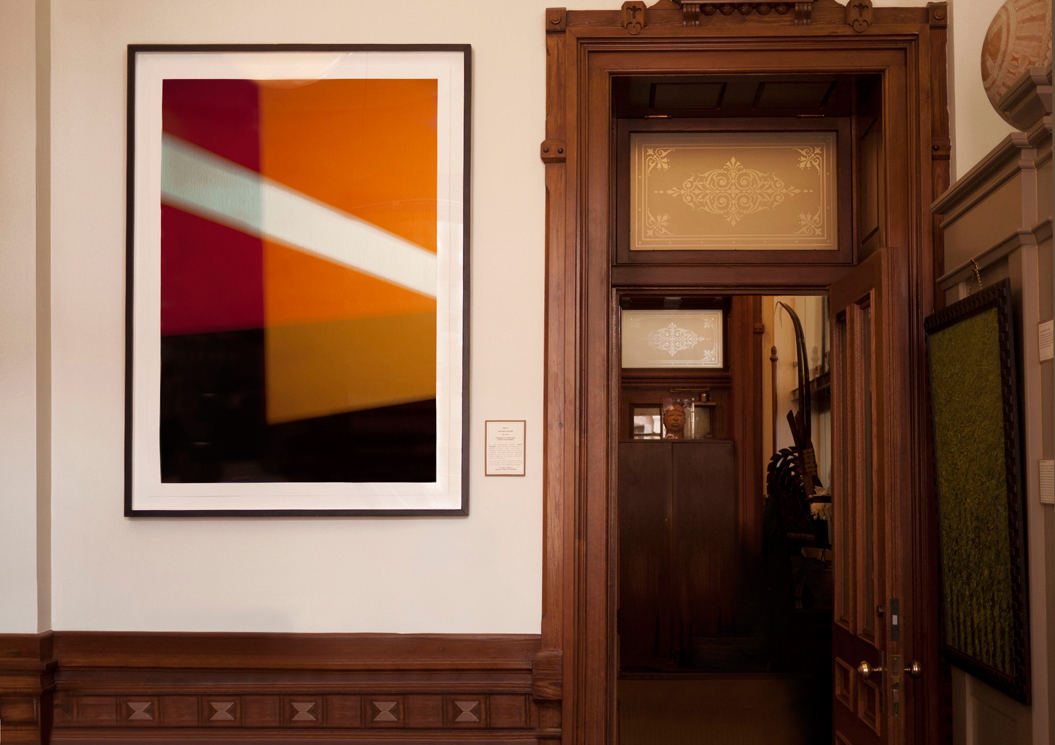 """Right On  (2014), archival pigment ink on rag paper, 60 x 40 inches (152.4 x 101.6 cm), shown in the """"I See You"""" exhibit at the Texas Capitol. Edition of 5, AP 1, by photographer Steven Silverstein."""