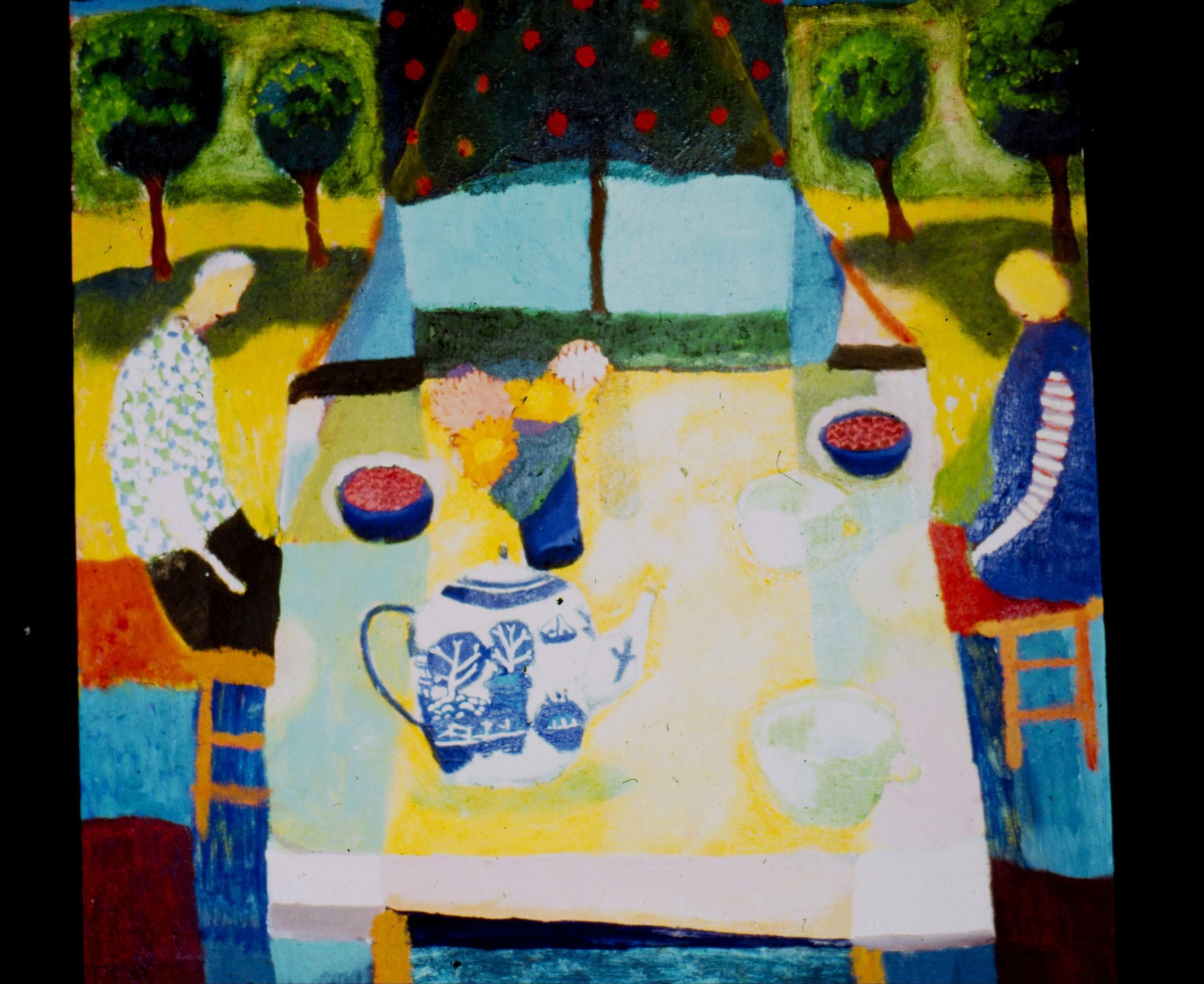 Dinner 32x32 Oil on Canvas 1995