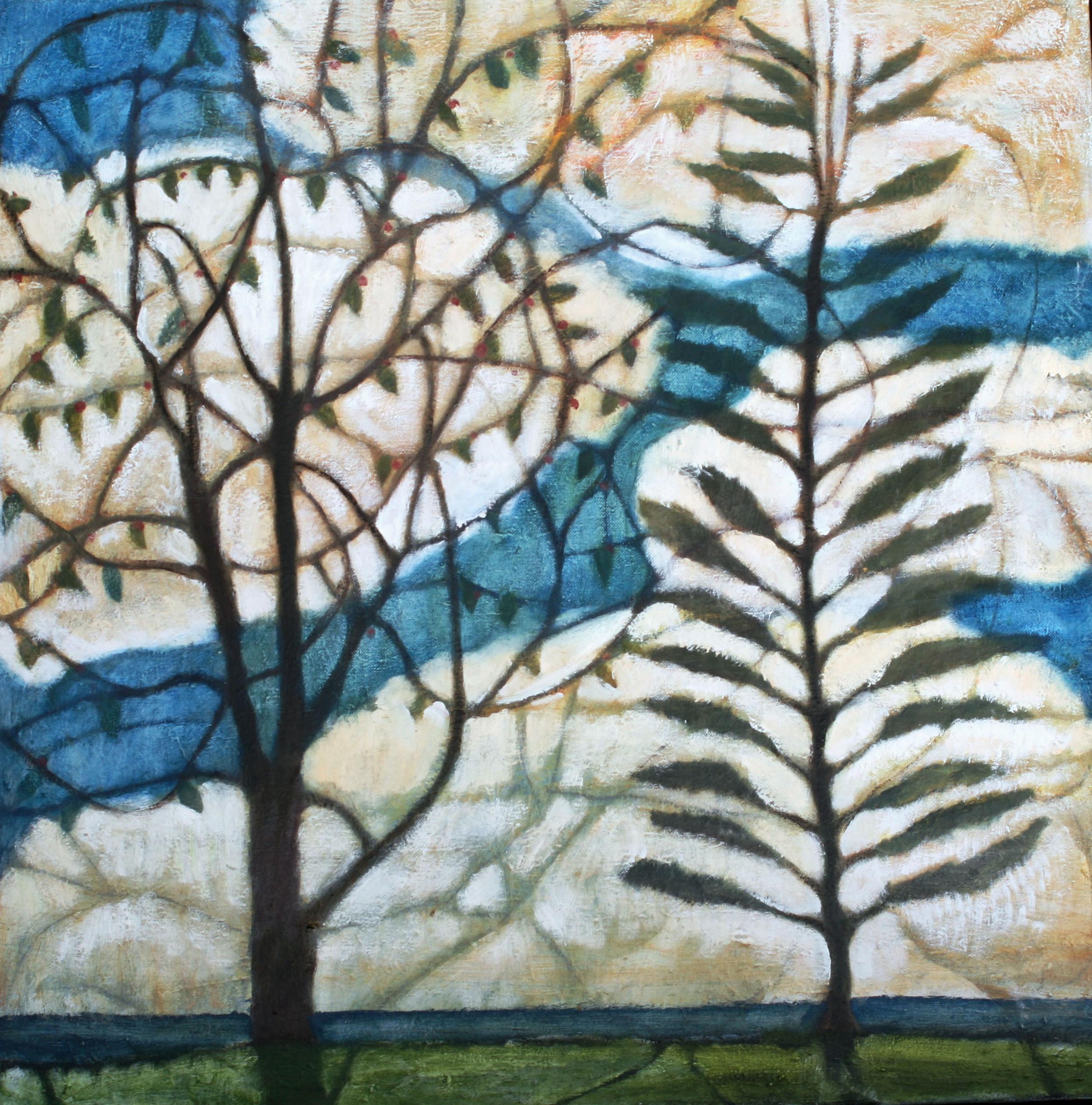 Two Trees, 40x40 Oil on Canvas 2008 Brattleboro Memorial Hospital, Brattleboro, Vermont