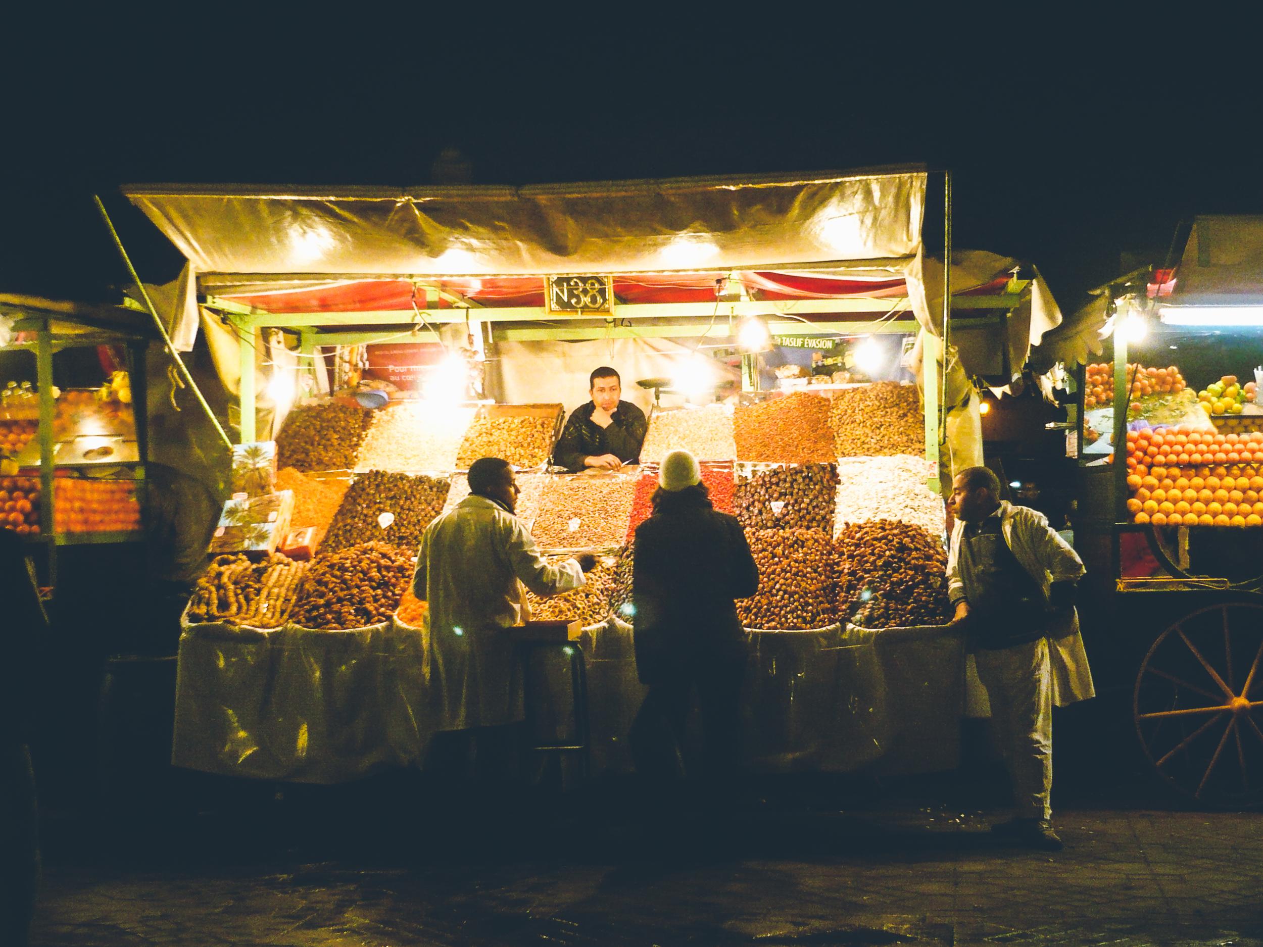 Night Market in Marrakech, Morocco 2009