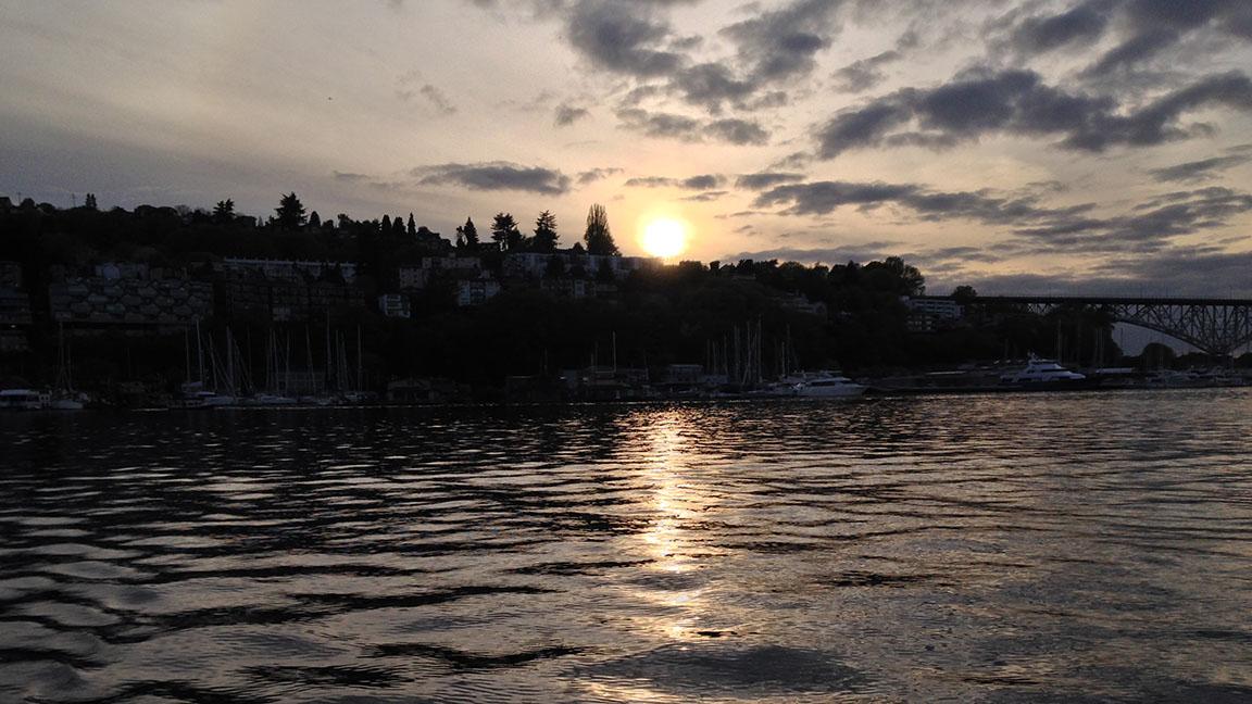 Sunset on Lake Union