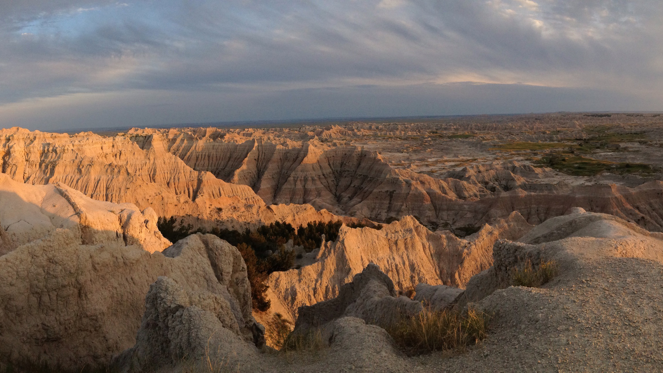 The Badlands of South Dakota.