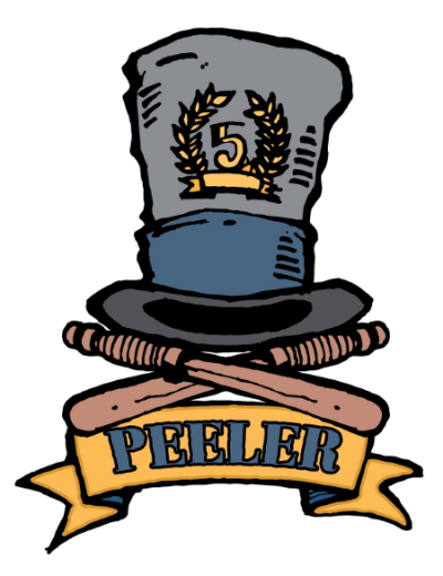 Charles Peale  Peeler: A member of her majesty's constabulary: a police officer; especially in the United Kingdom and Australia. Derived from the name of Sir Robert Peel who developed the Metropolitan Police Act in 1928 which proved to be the foundation for the modern police force in Britain.