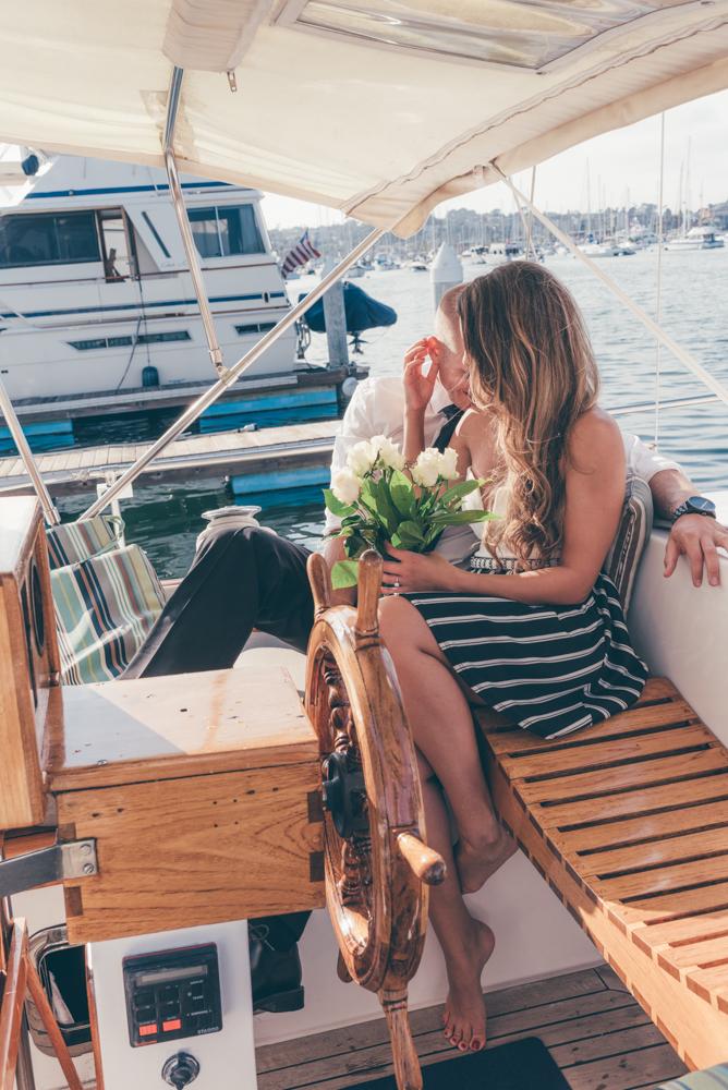 Sail Boat Couple Cuddle Session