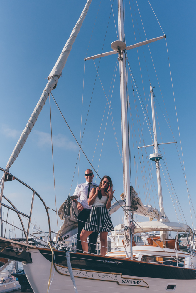 Sail Boat Engaged Couple