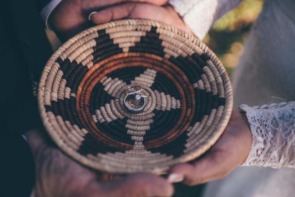 Navajo Wedding Basket by Debra Alison Photography San Diego
