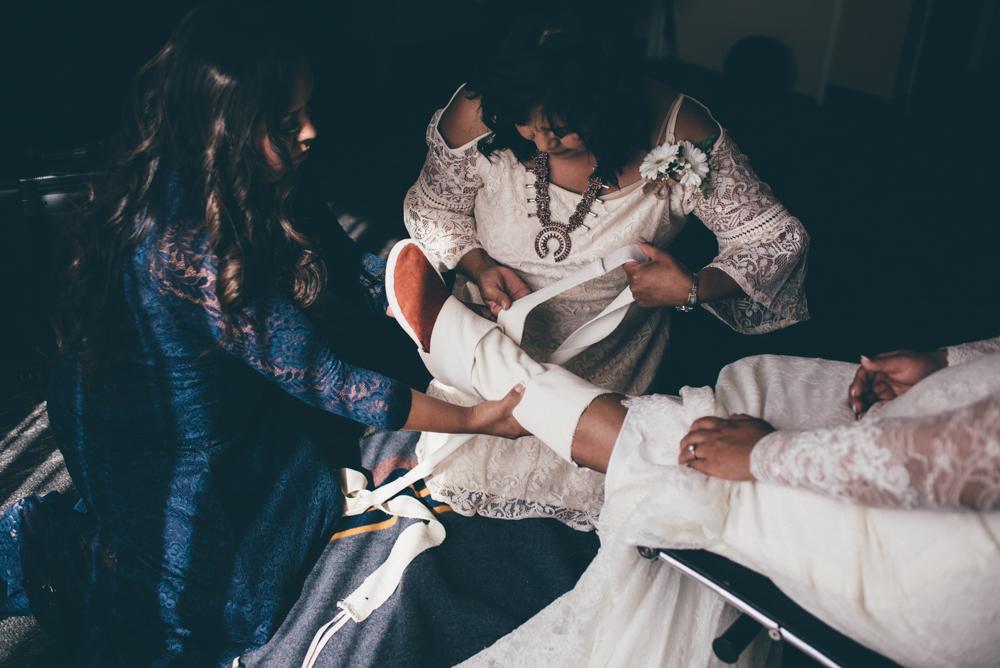 Navajo Wedding Moccasins Debra Alison Photography Riverwalk Golf Club San Diego
