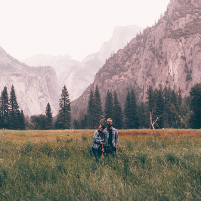 Melissa Marshall Couples session in Yosemite by Debra Alison Photography