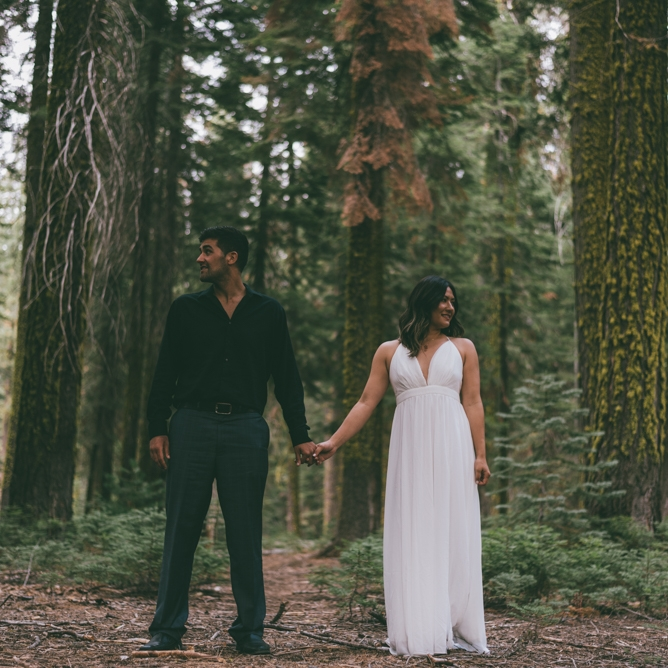 Yosemite and Sequoia Forest Engagement by Debra Alison Photography