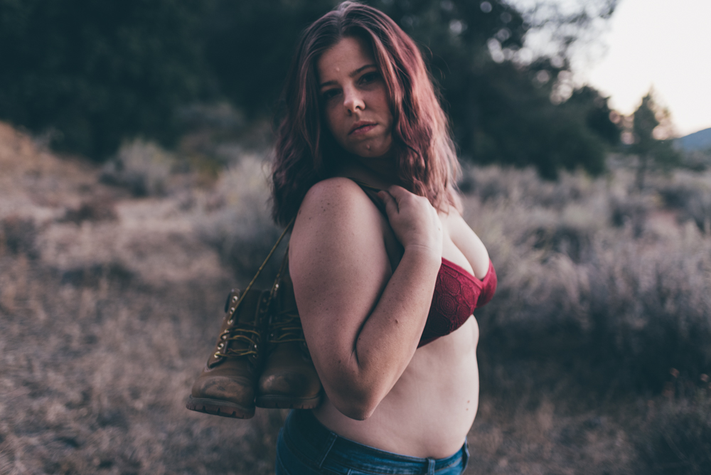 Outdoor Boots Boudoir Session by Debra Alison Photography