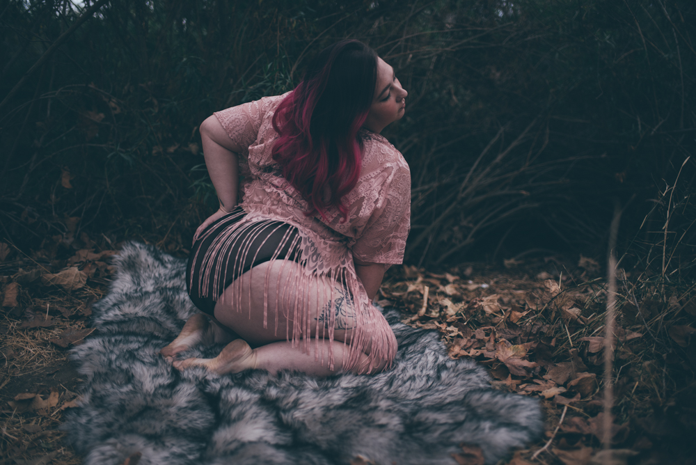 Forest and Fur outdoor Boudoir by Debra Alison Photography