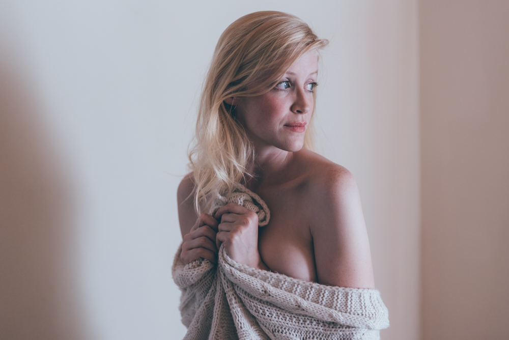 Cozy Indoor Boudoir Session by Debra Alison Photography