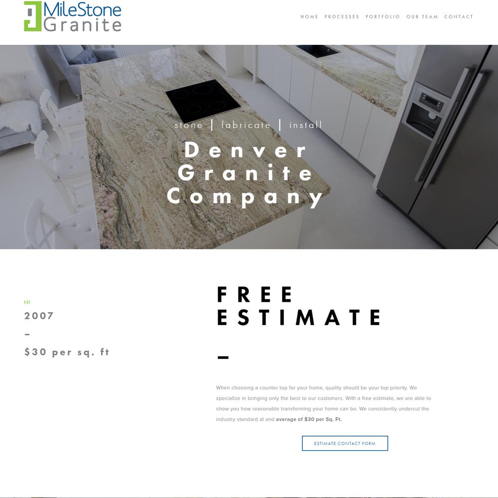 Milestone Granite Website