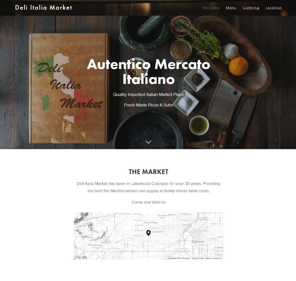 Deli Italia Market Website