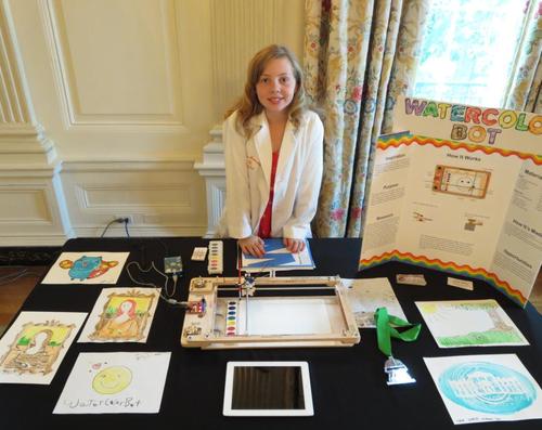 也是我們電影中的訪談者之一,很厲害的12歲小女生Sylvia from Sylvia's Awesome Mini Maker Show,也在去年入白宮參加!