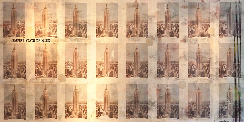 Empire State of Mind  Mixed media on MDF  122 × 244