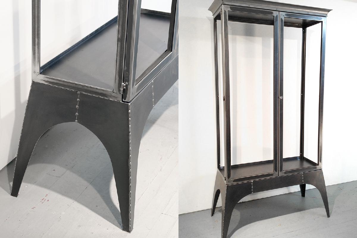 Steel Gl Curio Cabinet