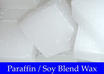 Soy with Paraffin Wax  Paraffin wax is a petroleum by-product created when crude oil is refined into gasoline. It is a white, odorless solid that is formed into 10 lb. slabs.Paraffin is the most commonly used wax for candle making