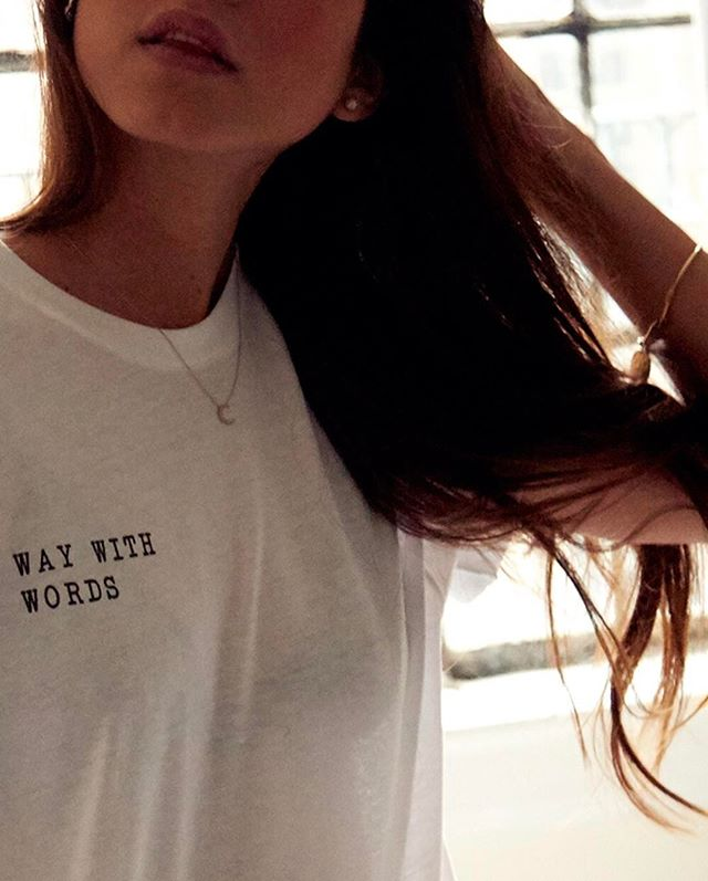 "Limited Edition ""Way with Words"" tees produced in partnership with our friends at @outontour. $20 bucks today until midnight and then $30 tomorrow and then $40 on Wednesday and then Ad Infinitum. #linkinbio"